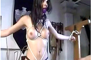 Lovely shemale in bondage
