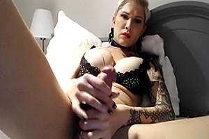 yummy blonde TS Playing With Her dirty dick (HD)