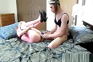Petite MILF's pussy And booty Licked And slammed Well By lovely Crossdressing bf