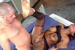 Busty Tgirl Jennifer Rios Gets Assfucked