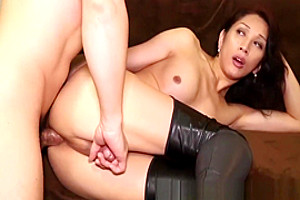 Anally Drilled Ladyboy Enjoys Doggystyle