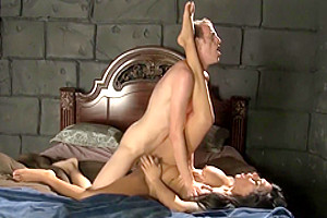 Big Tits Shemale Rides Cock