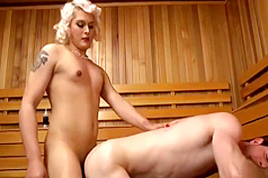 Hot Fucking In Sauna