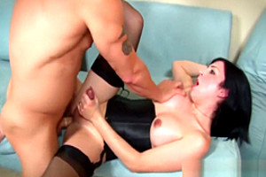 Shemale babe rides dick