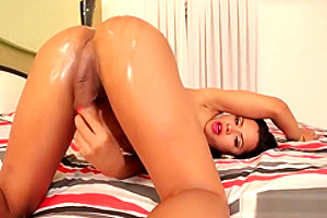 Latina is pleased with her penis