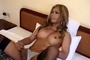 stunning shelady Stroking her knob