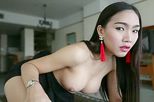 hello LadyBoy - Smoking nasty twenty one Year old Ladyboy gets slammed