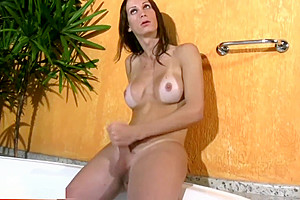 FULL video scene Of slim TS Beauty Stroking love muffins And Shecock