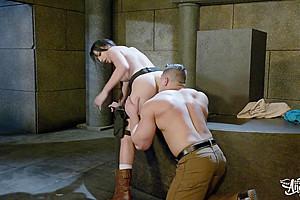 Damien Stone & Chanel Santini in Tomb Rider: A XXX Trans Parody - TransAngels