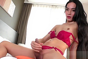 Sexy Asian trans girl Fany playing
