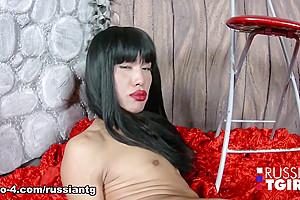 Asian-Russia Slutty Stunner - Russian-TGirls