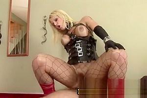 Carla Renata - Tranny Pornstar Riding On A Big Throbbing Penis