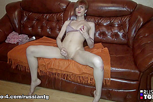 Kristina Showing Off Her Cock - Russian-TGirls