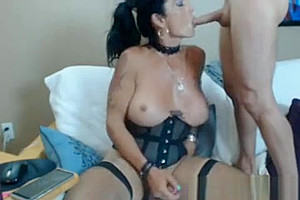 breasty t-girl Take Turns In cock sucking With lover