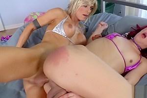Sexy TS Nina and Kendra fucks each others butthole hardcorely