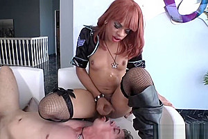 Ebony shemales anal delight with dude