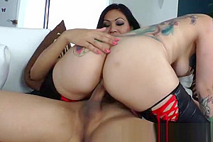 Tattooed lover girl for an exotic tranny