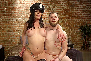 BDSM femdom drilling her slaves ass