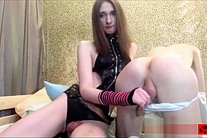 Cute tgirl couple anal dick playing webcam