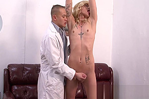 Tgirl gets fetish facial