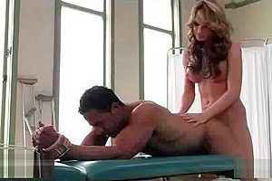 Bound therapist to bed fucked by tranny Kelly Shore