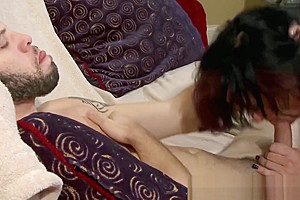 Handsome teacher gets her tranny ass dicked hard