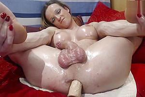 german shemale blonde milf tranny wanking hard until she shotting big load cumshot