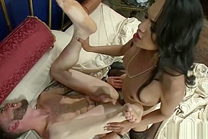Shemale visits ex bf for anal fuck