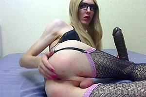 Alisya JC fisting solo anal play with dildo and buttplug