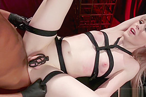 Shemale Slave In Chastity Is Anal Fucked