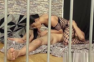 Sexy prison Shemale guard