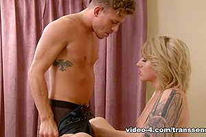 Alexander Gustavo & Aspen Brooks in TS Blondes Have More Fun - TransSensual