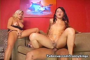 TrannyKingz Video: Amanda Borbom, Fernanda Barros, Renzo Araujo