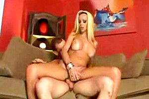Blonde tranny with huge boobs is your sexual dream