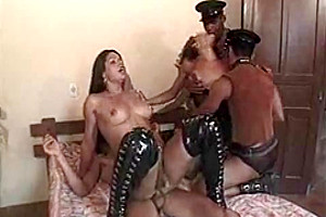 Outer cusmhot after fetish orgy with a TS