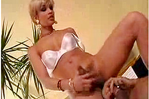 Blonde Tranny Sucking Cock Before Riding It