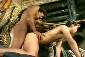 2 guys fuck hot black Tgirl